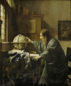 Astronomer by Jan Vermeer, 1632-1675. A portrait of Antonij van Leeuwenhoek?